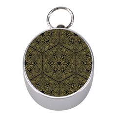 Texture Background Mandala Mini Silver Compasses by Celenk