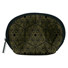 Texture Background Mandala Accessory Pouches (medium)  by Celenk