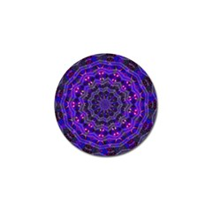 Purple Kaleidoscope Mandala Pattern Golf Ball Marker (4 Pack) by Celenk