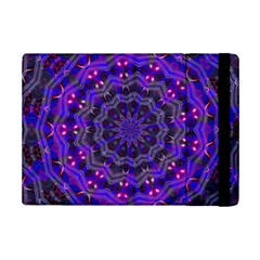 Purple Kaleidoscope Mandala Pattern Ipad Mini 2 Flip Cases