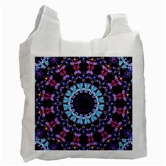 Kaleidoscope Shape Abstract Design Recycle Bag (one Side) by Celenk