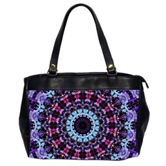 Kaleidoscope Shape Abstract Design Office Handbags (2 Sides)  by Celenk