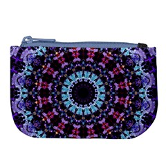 Kaleidoscope Shape Abstract Design Large Coin Purse by Celenk
