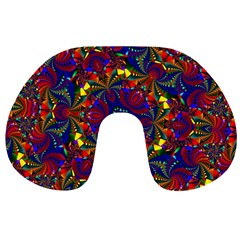 Kaleidoscope Pattern Ornament Travel Neck Pillows by Celenk