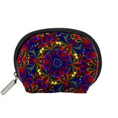 Kaleidoscope Pattern Ornament Accessory Pouches (small)  by Celenk