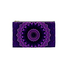Mandala Purple Mandalas Balance Cosmetic Bag (small)  by Celenk