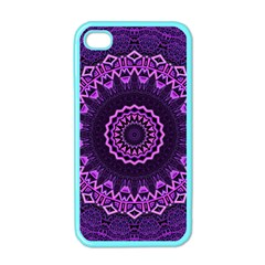 Mandala Purple Mandalas Balance Apple Iphone 4 Case (color) by Celenk