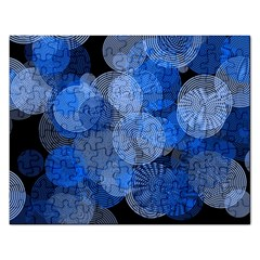 Circle Rings Abstract Optics Rectangular Jigsaw Puzzl by Celenk