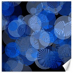 Circle Rings Abstract Optics Canvas 20  X 20   by Celenk