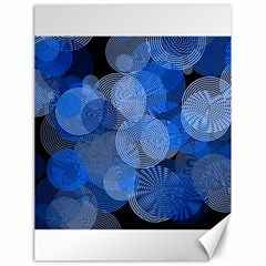 Circle Rings Abstract Optics Canvas 18  X 24   by Celenk