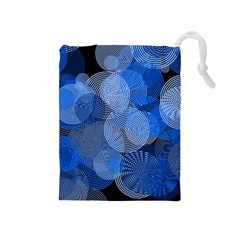 Circle Rings Abstract Optics Drawstring Pouches (medium)  by Celenk