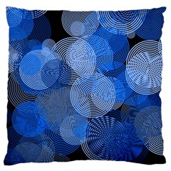 Circle Rings Abstract Optics Standard Flano Cushion Case (one Side) by Celenk
