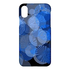 Circle Rings Abstract Optics Apple Iphone X Hardshell Case by Celenk