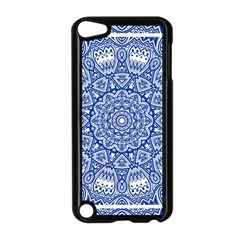Blue Mandala Kaleidoscope Apple Ipod Touch 5 Case (black) by Celenk