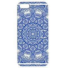 Blue Mandala Kaleidoscope Apple Iphone 5 Hardshell Case With Stand