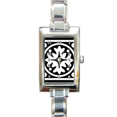 Mandala Pattern Mystical Rectangle Italian Charm Watch by Celenk