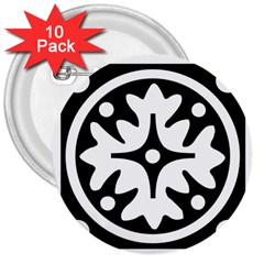 Mandala Pattern Mystical 3  Buttons (10 Pack)  by Celenk