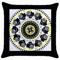 Mandala Geometric Design Pattern Throw Pillow Case (black) by Celenk