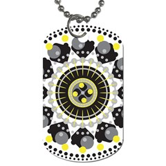 Mandala Geometric Design Pattern Dog Tag (two Sides) by Celenk