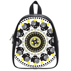 Mandala Geometric Design Pattern School Bag (small) by Celenk