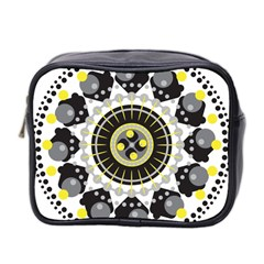 Mandala Geometric Design Pattern Mini Toiletries Bag 2 Side by Celenk