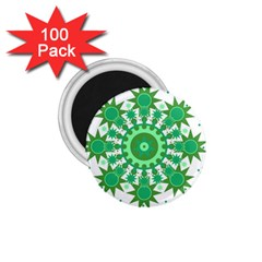 Mandala Geometric Pattern Shapes 1 75  Magnets (100 Pack)  by Celenk