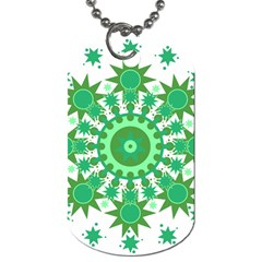Mandala Geometric Pattern Shapes Dog Tag (one Side) by Celenk