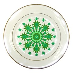 Mandala Geometric Pattern Shapes Porcelain Plates