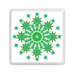 Mandala Geometric Pattern Shapes Memory Card Reader (square)