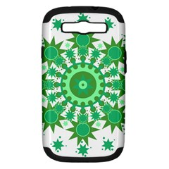 Mandala Geometric Pattern Shapes Samsung Galaxy S Iii Hardshell Case (pc+silicone) by Celenk