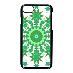 Mandala Geometric Pattern Shapes Apple Iphone 8 Seamless Case (black) by Celenk