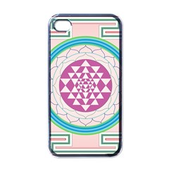 Mandala Design Arts Indian Apple Iphone 4 Case (black) by Celenk