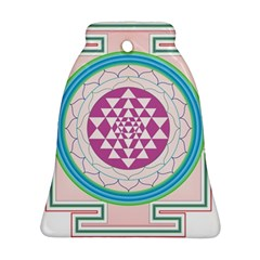 Mandala Design Arts Indian Bell Ornament (two Sides) by Celenk