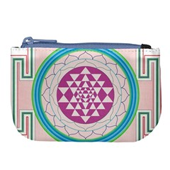 Mandala Design Arts Indian Large Coin Purse by Celenk