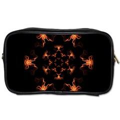 Mandala Fire Mandala Flames Design Toiletries Bags 2 Side