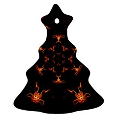 Mandala Fire Mandala Flames Design Ornament (christmas Tree)  by Celenk