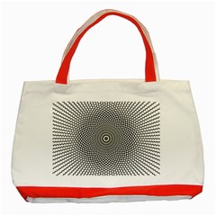 Kaleidoscope Pattern Kaleydograf Classic Tote Bag (red) by Celenk