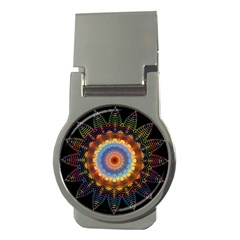 Colorful Prismatic Chromatic Money Clips (round)  by Celenk