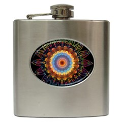 Colorful Prismatic Chromatic Hip Flask (6 Oz)