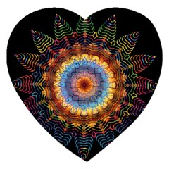 Colorful Prismatic Chromatic Jigsaw Puzzle (heart)
