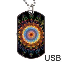 Colorful Prismatic Chromatic Dog Tag Usb Flash (two Sides) by Celenk