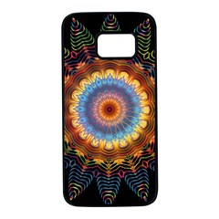 Colorful Prismatic Chromatic Samsung Galaxy S7 Black Seamless Case by Celenk