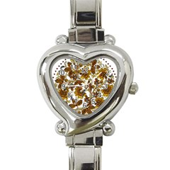 Mandala Metallizer Art Factory Heart Italian Charm Watch by Celenk
