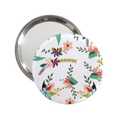 Floral Backdrop Pattern Flower 2 25  Handbag Mirrors