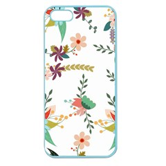 Floral Backdrop Pattern Flower Apple Seamless Iphone 5 Case (color)