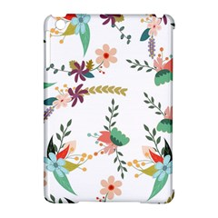 Floral Backdrop Pattern Flower Apple Ipad Mini Hardshell Case (compatible With Smart Cover) by Celenk
