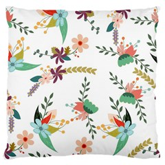 Floral Backdrop Pattern Flower Standard Flano Cushion Case (one Side) by Celenk