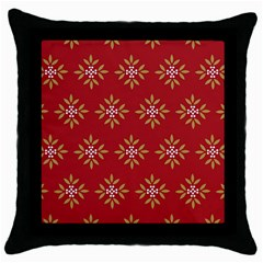 Pattern Background Holiday Throw Pillow Case (black) by Celenk