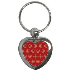 Pattern Background Holiday Key Chains (heart)  by Celenk