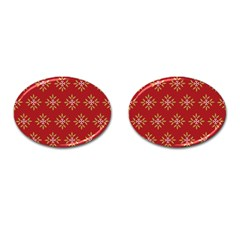 Pattern Background Holiday Cufflinks (oval) by Celenk